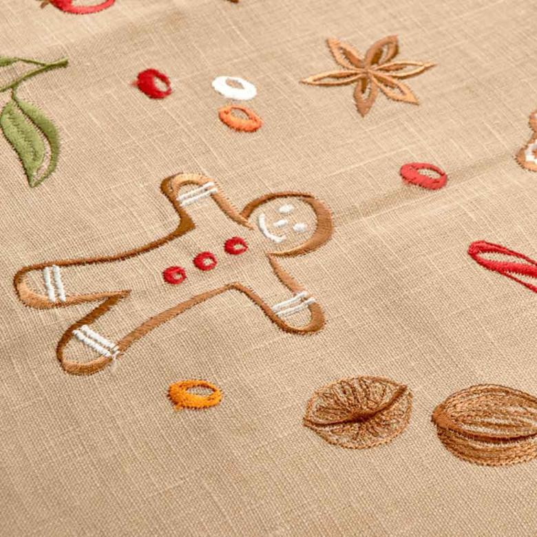 Серветка центральна Смаколики 65*65 (пшеничний льон)