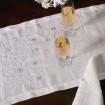 Доріжка СНІЖИНКИ 140*45 (білий льон)