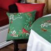 Наволочка декоративна MERRY CHRISTMAS (зелений льон)