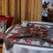 Набір CHRISTMAS STORY 90*90 та 4 серветки (графіт льон)