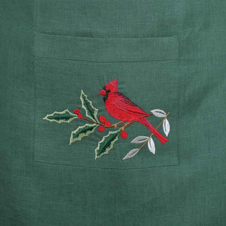 Фартух MERRY CHRISTMAS (зелений льон)