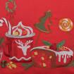 Наволочка декоративна СМАК РІЗДВА глінтвейн (червоний льон)