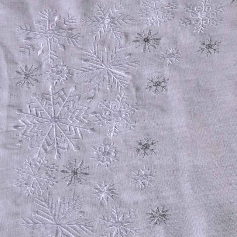 Доріжка Сніжинки 90*40см (білий льон)