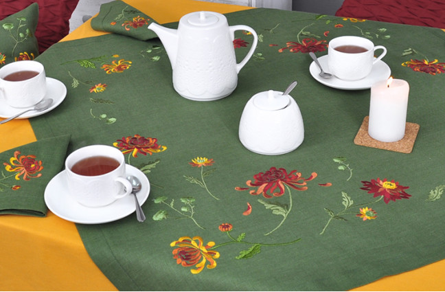 Нова осіння колекція столового текстилю ХРИЗАНТЕМА