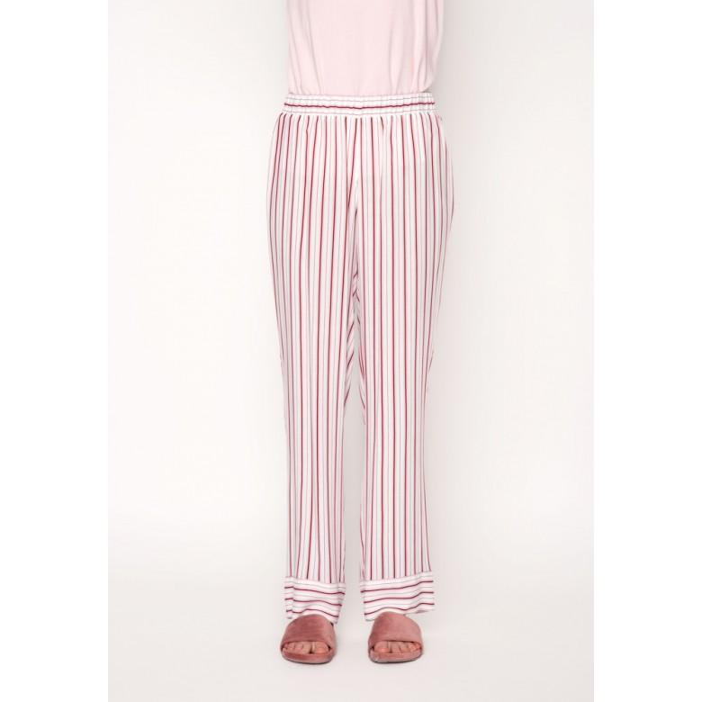 Брюки піжамні р.42 ( віскоза, бордово-білі смуги) мод.29600