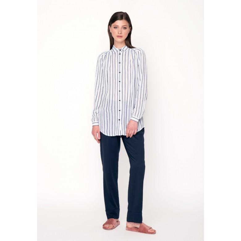 Блуза зі складкою по спині р.40 (віскоза) мод.29722