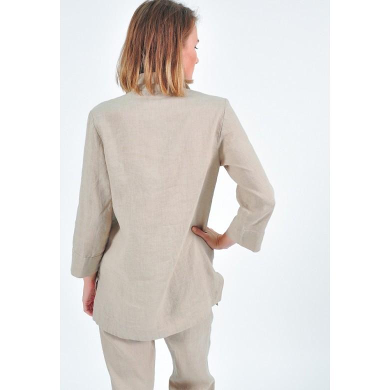Жакет піжамний р.42 (бежевий льон) мод.32859