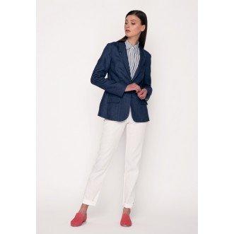 Жакет короткий літній р.40 (синій джинс) мод.30380