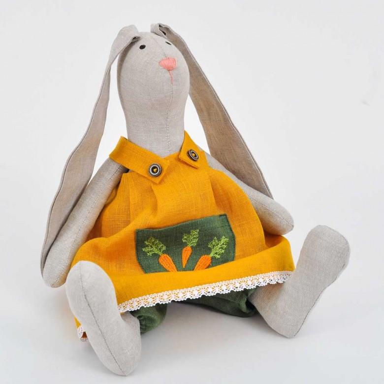 М'яка іграшка Великодній Кролик дівчинка (висота 37 см)