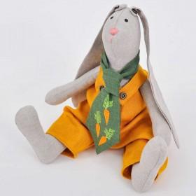 М'яка іграшка Великодній Кролик хлопчик (висота 37 см)