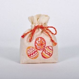 Торбинка для ДЛЯ ПИСАНОК червона (молочний льон)