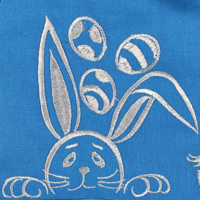 Сумка для паски КРОЛИК синій