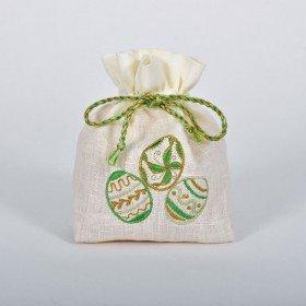 Торбинка для ДЛЯ ПИСАНОК зелена (молочний льон)