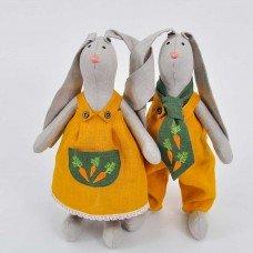 М'які іграшки Великодні Кролики пара (висота 37 см)