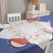 Набір столовий ТЮЛЬПАНИ 90*90 та 2+2 серветки (білий+лісова ягода)