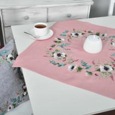 Серветка АНЕМОНИ 65*65 (рожевий льон)