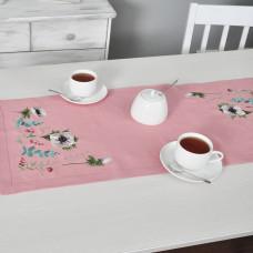Доріжка АНЕМОНИ 90*40 (рожевий льон)