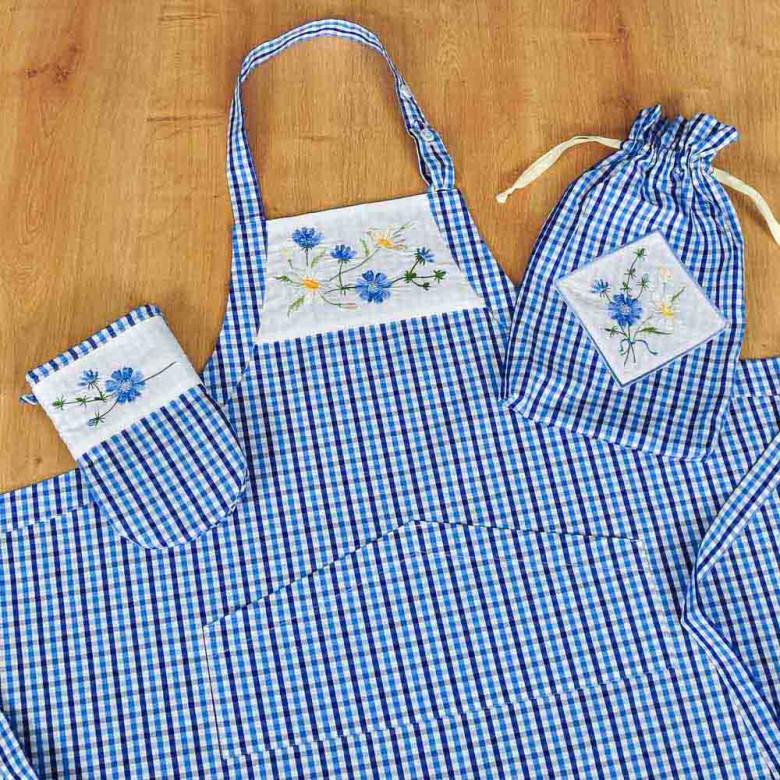 Набір фартух з рукавицею ЦИКОРІЙ у торбинці