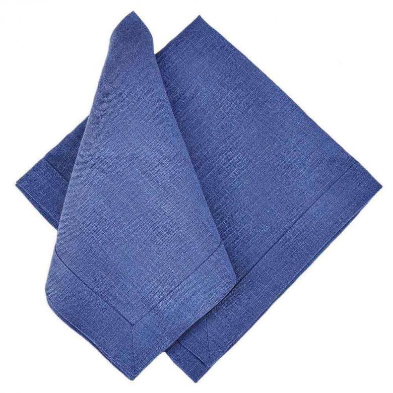 Набір столовий ТЮЛЬПАНИ 90*90 та 4 серветки (синій льон)