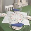 Набір столовий ТЮЛЬПАНИ 65*65 та 2+2 серветки (білий+синій льон)