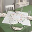 Набір столовий ТЮЛЬПАНИ 65*65 та 2+2 серветки (білий+зелений льон)