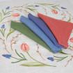 Набір столовий ТЮЛЬПАНИ 65*65 та 4 серветки (синій льон)