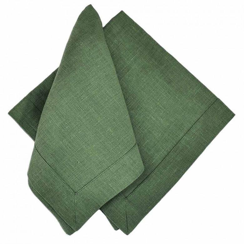 Набір столовий ТЮЛЬПАНИ 65*65 та 4 серветки (зелений льон)