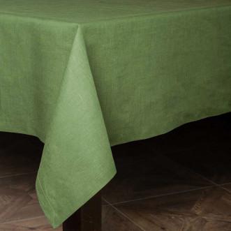 Cкатерть базовая 180*140см (зелёный лён)