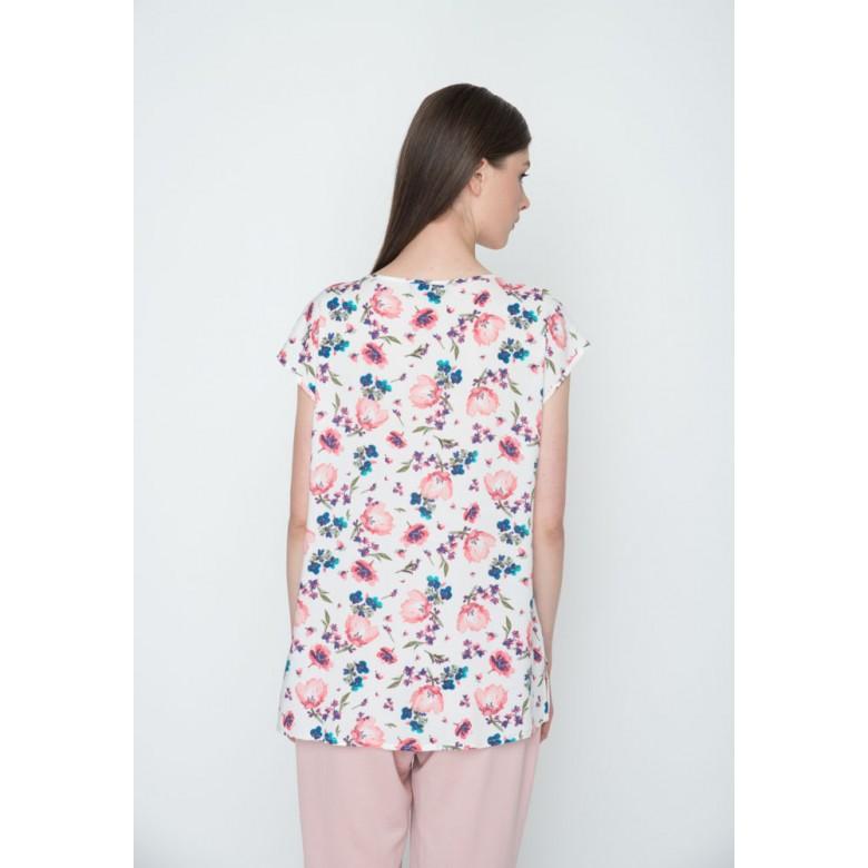 """Блуза вільна р.42 (віскоза, """"квіти"""") мод.30146"""