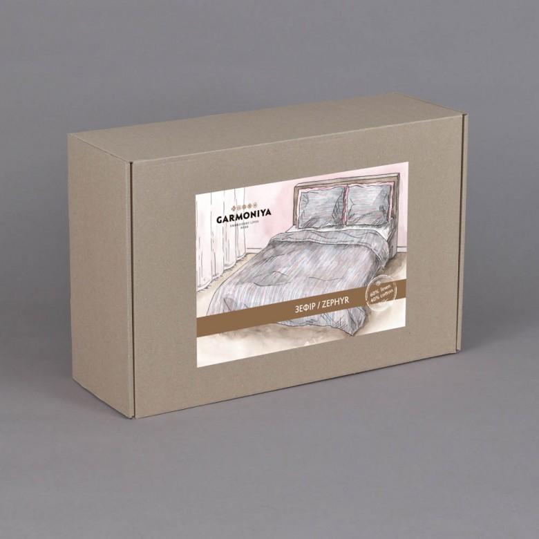 Комплект постільної білизни ЗЕФІР 2-спальний ЄВРО