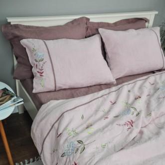 Комплект постільної білизни ГОРТЕНЗІЯ 2-спальний ЄВРО