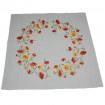 Набір столовий Геленіум центральна серветка 90*90см та 2+2 серветки 40*40см (сірий льон)