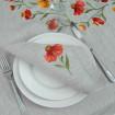 Набір серветок на стіл: 2+2 серветки Геленіум 40*40см (сірий льон)