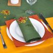Набір серветок на стіл: 4 серветки Хризантеми 40*40см (зелений льон)