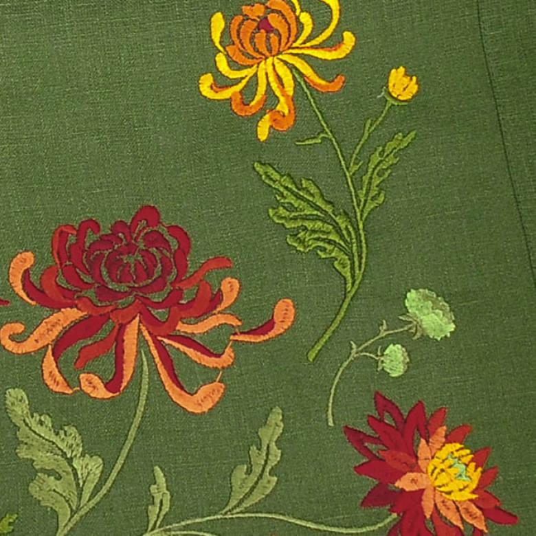 Доріжка Хризантеми 90*40см (зелений льон)