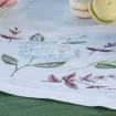 Набір Гортензія - 90*40 та 4 серветки (білий льон)