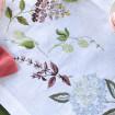 Набір Гортензія - 65*65 та 4 серветки (білий льон)
