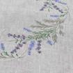 Набір Лаванда - 65*65 та 4 серветки (сірий льон)