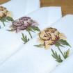 Набір серветок на стіл: 4 серветки Півонія 40*40см (білий льон)