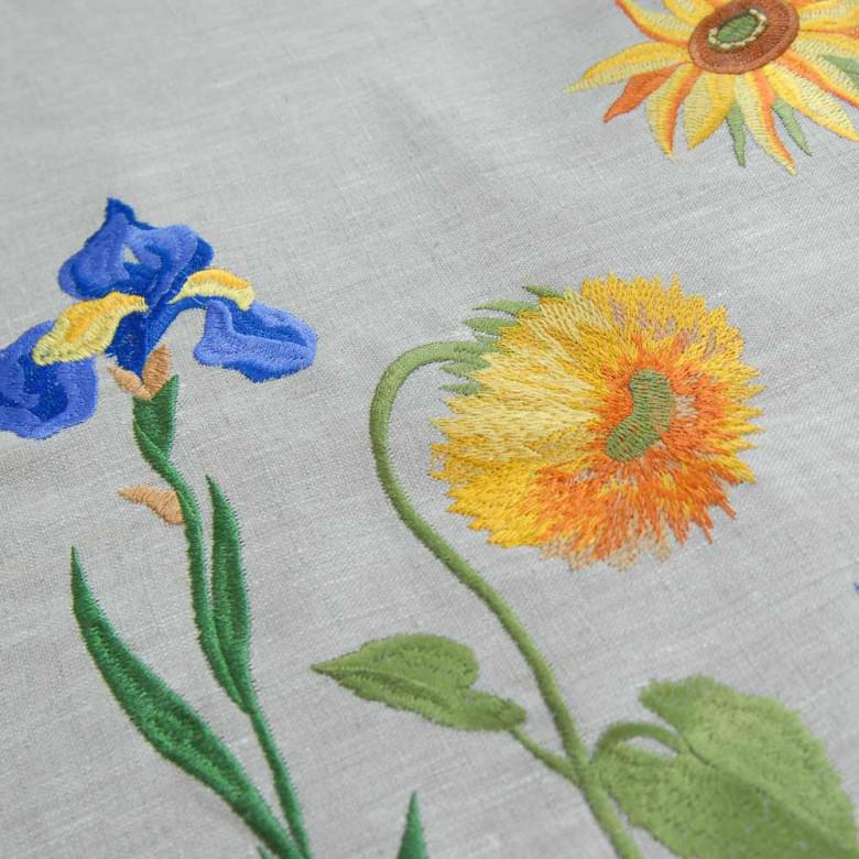 Набір Соняшники Ван Гога - 140*40 та 2+2 серветки (сірий льон)