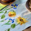Набір Соняшники Ван Гога - 90*40 та 2+2 серветки (сірий льон)