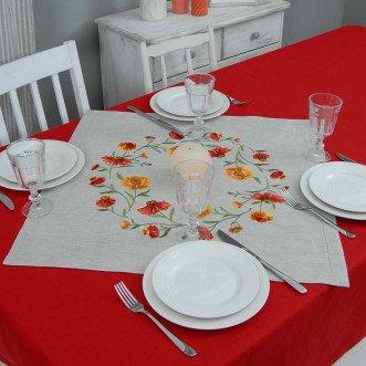Серветка на стіл центральна Геленіум 65*65см (сірий льон)