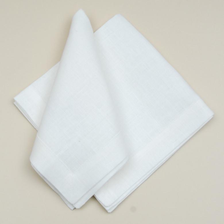 Серветки лляні 40*40см - базовий набір 4шт (білий льон)
