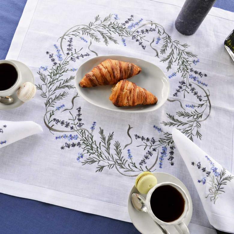 Серветка Лаванда 65*65 (білий льон)