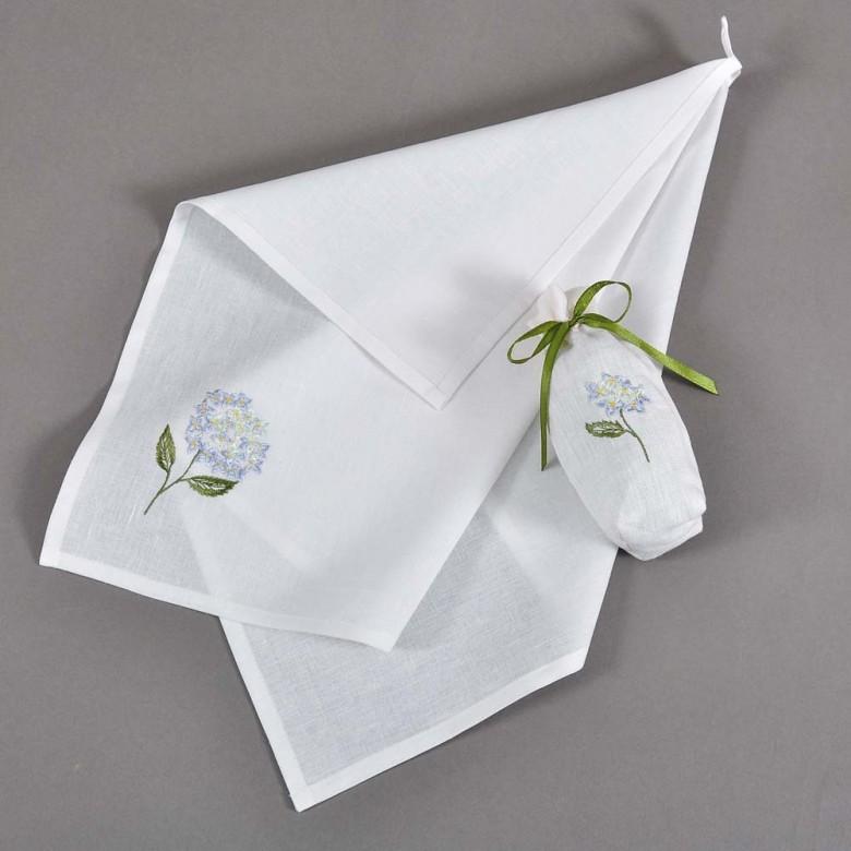 Набір: полотенце у торбинці  ГОРТЕНЗІЯ 65*45