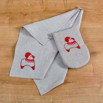 Набор для кухни: рукавица и полотенце ТРИПОЛЬСКАЯ ИГРУШКА-баранчик