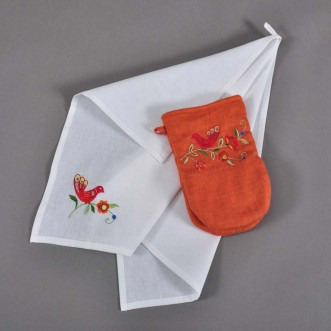 Набор для кухни: рукавица и полотенце Дерево Жизни