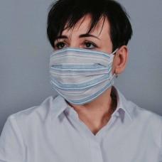 Захисна маска з тканини полосата арт. 011