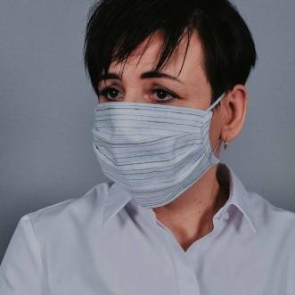 Захисна маска з тканини полосата арт. 013