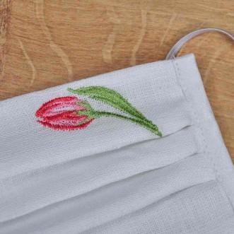 Захисна маска з тканини тюльпан 101